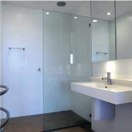 how to clean coated shower glass