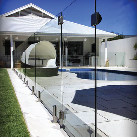 Glass coating for railings & pool fencing - EnduroShield