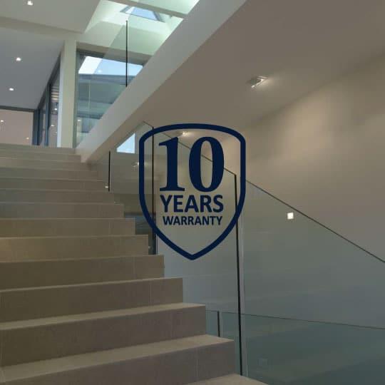 Glass coating for railings & pool fencing - EnduroShield Warranty